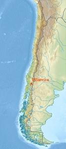 Villarrica sur la carte chili